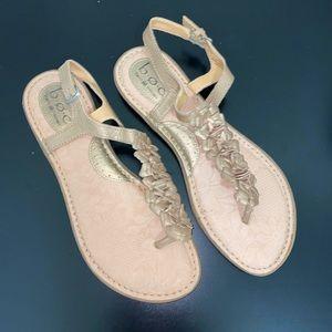 BOC Gold Floral Sling Back Sandals.